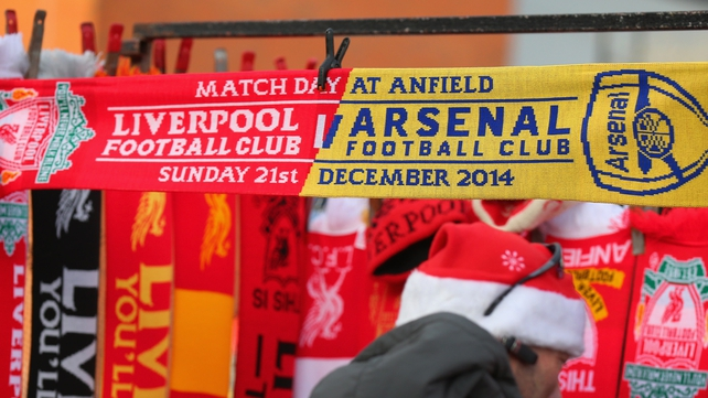 LIVE SCORES: Liverpool v Arsenal
