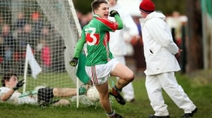 Cian Hennessey of Loughmore celebrates scoring his side's second goal
