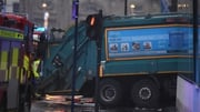 The bin lorry struck pedestrians in the centre of Glasgow