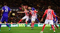 John Terry heads home to give Chelsea an early lead at the Britannia Stadium