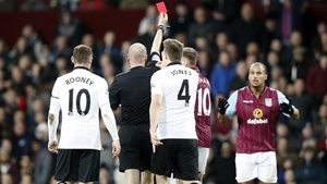 Gabriel Agbonlahor's red card against Manchester United has been overturned