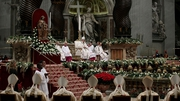 Pope Francis leads the midnight Christmas Mass in Saint Peters Basilica at the Vatican