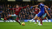 Diego Costa scores Chelsea's second