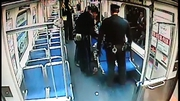 Two transit police officers were urgently called to the train as the woman went into labour