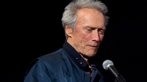Clint Eastwood speaking at a special screening of American Sniper at the Egyptian Theatre, Hollywood in November