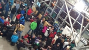 Some of the Irish people stuck in Chambery Airport (Pic: Lorraine Miley)