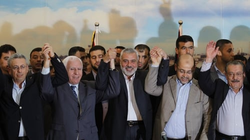 The unity government was formed after an agreement between Hamas and Fatah in April