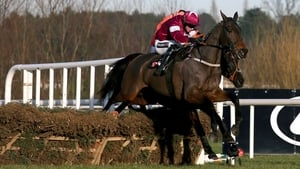Lieutenant Colonel, ridden by Bryan Cooper, clears the last fence on his way to winning