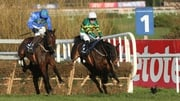 Hurricane Fly (near side) is a top-price 14-1 for the Champion Hurdle at the Cheltenham Festival