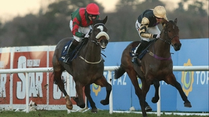 Vigil (left) may going in the Champion Bumper at Cheltenham