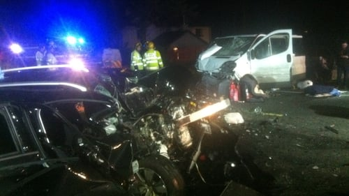 A Peugeot car and a Renault Trafic minibus were involved in the collision