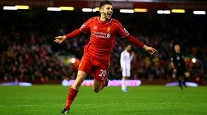Adam Lallana scored twice to put Liverpool in control