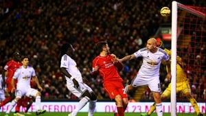 Jonjo Shelvey heads into his own net on a night to forget for the former Liverpool midfielder