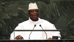 Gambia's President Yahya Jammeh has arrived back in Banjul