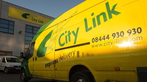 City Link parcel delivery depot in south London