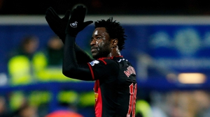Wilfried Bony acknowledges the crowd at full-time