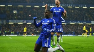 Zouma in better times - he will miss the rest of the season through injury
