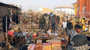 The scene of a bomb blast, thought to have been carried out by Boko Haram, in Jos, Nigeria last month