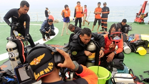 The main focus of the search is about 90 nautical miles off the coast of Borneo island