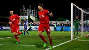 Steven Gerrard scored twice at Kingsmeadow