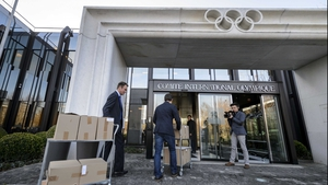 The Almaty submission arrives at the International Olympic Committee headquarters in Lausanne