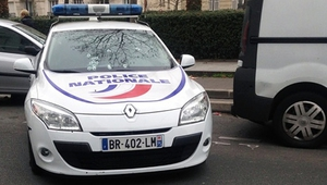A police car was riddled with bullets during the attack