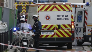 Police block roads in Paris