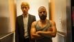 Domhnall Gleeson and co-star Oscar Isaac in Ex Machina