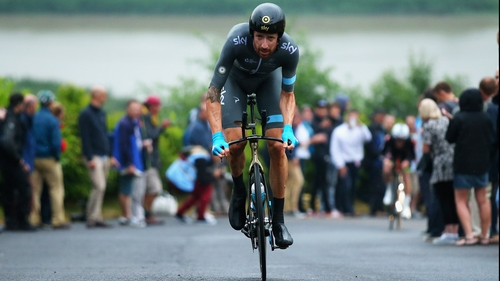 Wiggins in action for Team Sky