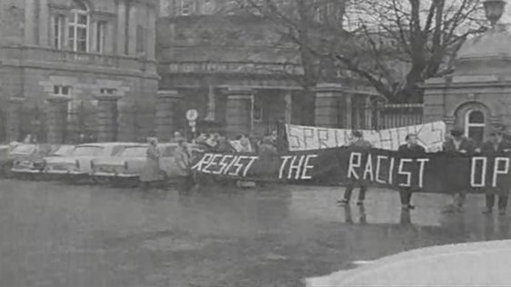 Springboks Protest at Leinster House (1970)