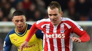 Glenn Whelan could miss Stoke's clash with Liverpool