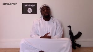 An image from the video which purports to show Amedy Coulibaly