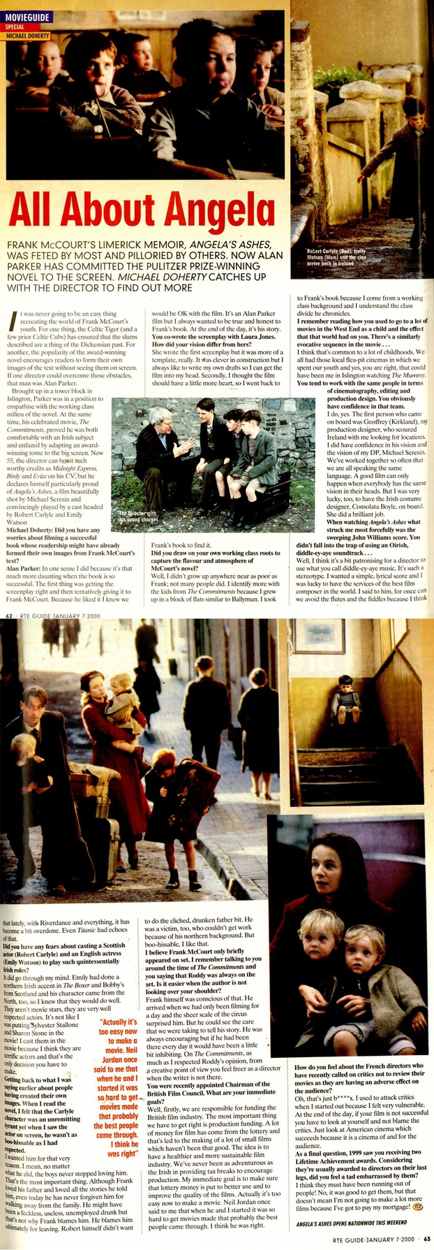 Angela's Ashes RTÉ Guide (07/01/2000)