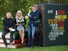 Niall MacMonagle, Anne Doyle, and John Kelly at the launch of the RTÉ A Poem for Ireland project
