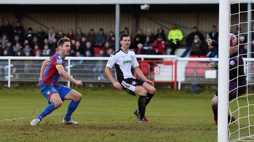 Kevin Doyle scores to make it 4-0 during the FA Cup Third Round match between Dover Athletic and Crystal Palace