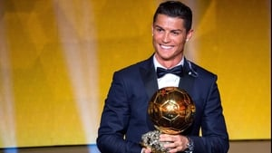Cristiano Ronaldo has scooped the Ballon d'Or for a third time