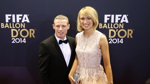 Stephanie Roche with her boyfriend Dean Zambra at the ceremony