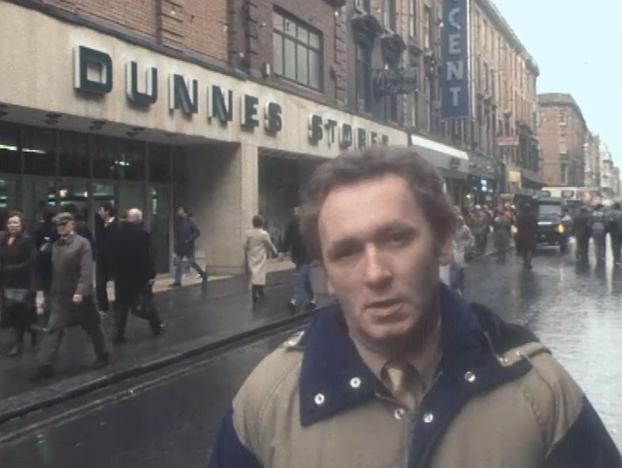 Pat Butler Outside Dunnes Stores
