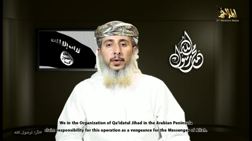 The video said the group's leadership ordered the attack for insults against the Prophet Mohammad