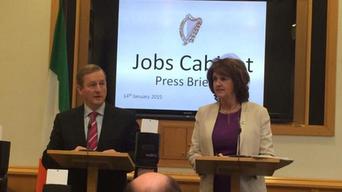 Enda Kenny and Joan Burton announced the new measures at a news conference this afternoon