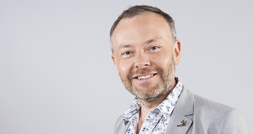 Rick O'Shea, the new presenter of The Book Show on RTÉ Radio 1.