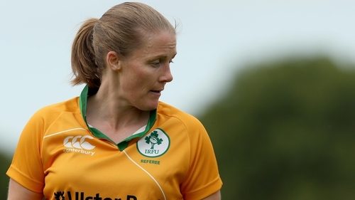 Helen O'Reilly has previously refereed during the Women's World Cup and the Six Nations