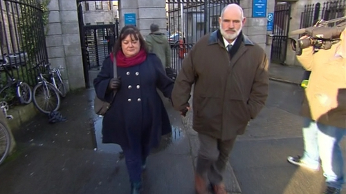 Mary and Brian O'Shaughnessy leaving the High Court