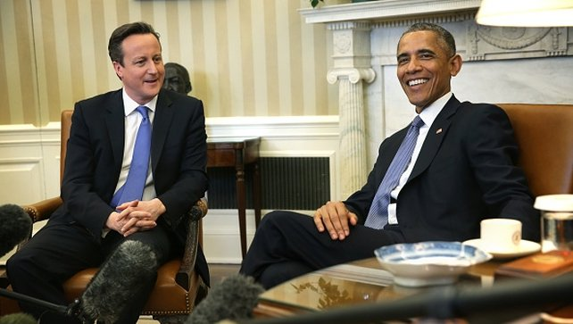 Barack Obama and British Prime Minister David Cameron were speaking at a joint press conference