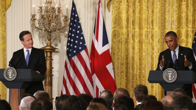 David Cameron and Barack Obama at their Washington press conference