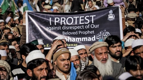 There have been widespread protests about the depiction of the Prophet Muhammad