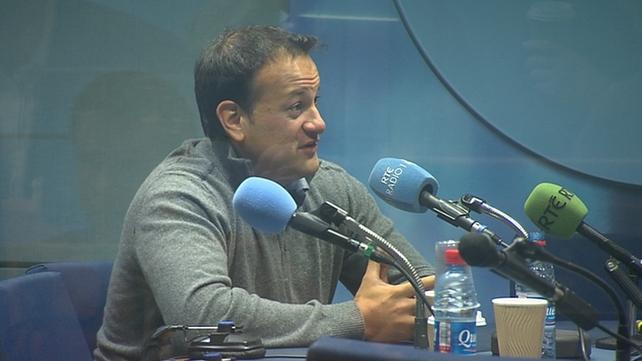 Leo Varadkar was speaking to Miriam O'Callaghan on RTÉ Radio 1