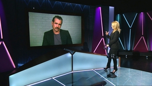 Colin Farrell being interviewed by Claire Byrne