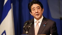 Japanese Prime Minister Shinzo Abe told reporters Japan decided to take 'firm action steps' against North Korea