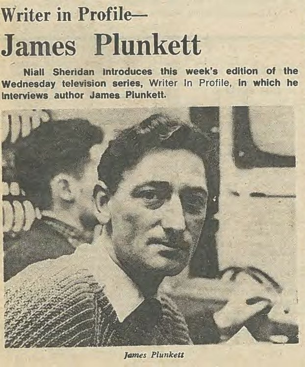 James Plunkett RTÉ Guide 16/01/1970